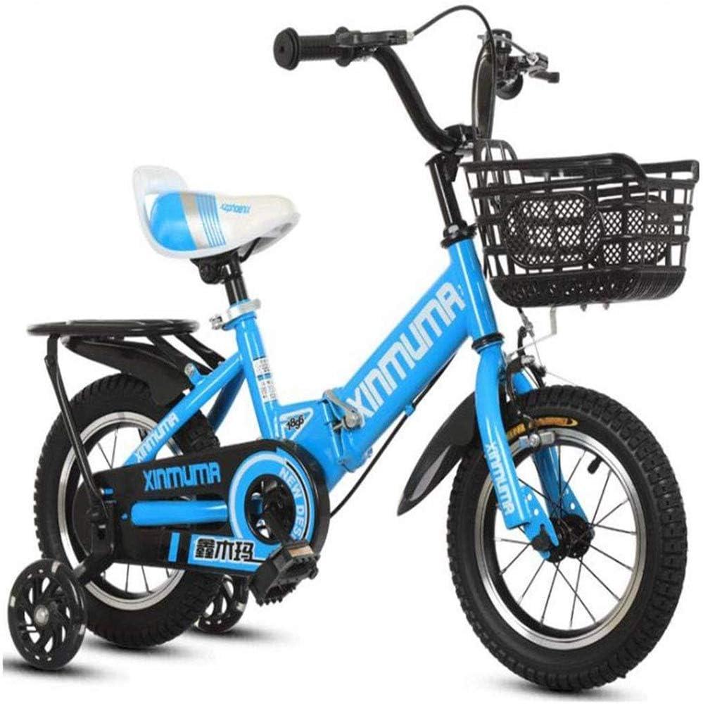 AJH Bicicleta de niño para Bicicleta Equilibrio niños, Bicicletas Bicicleta Plegable de formación del niño de los niños en Talla 12