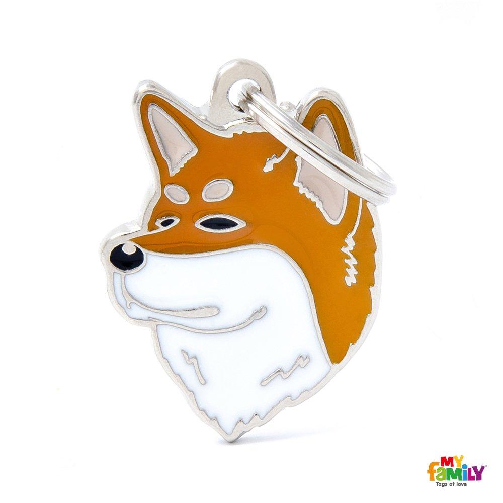 Médaille MyFamily Akita Inu plaque chien gravure gratuite coutume chat