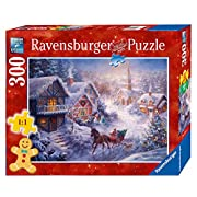 Amazon Lightning Deal 68% claimed: Ravensburger Dashing Through the Snow Format Puzzle (300 Piece), Large