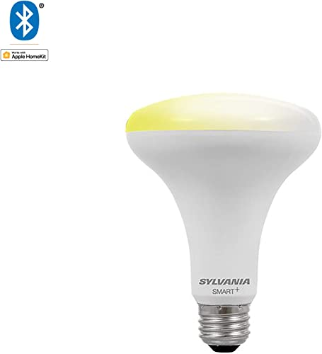 SYLVANIA General Lighting 74987 Smart BR30 LED Bulb, Works with Apple HomeKit and Siri Voice Control, 1 Pack, Soft White Dimmable