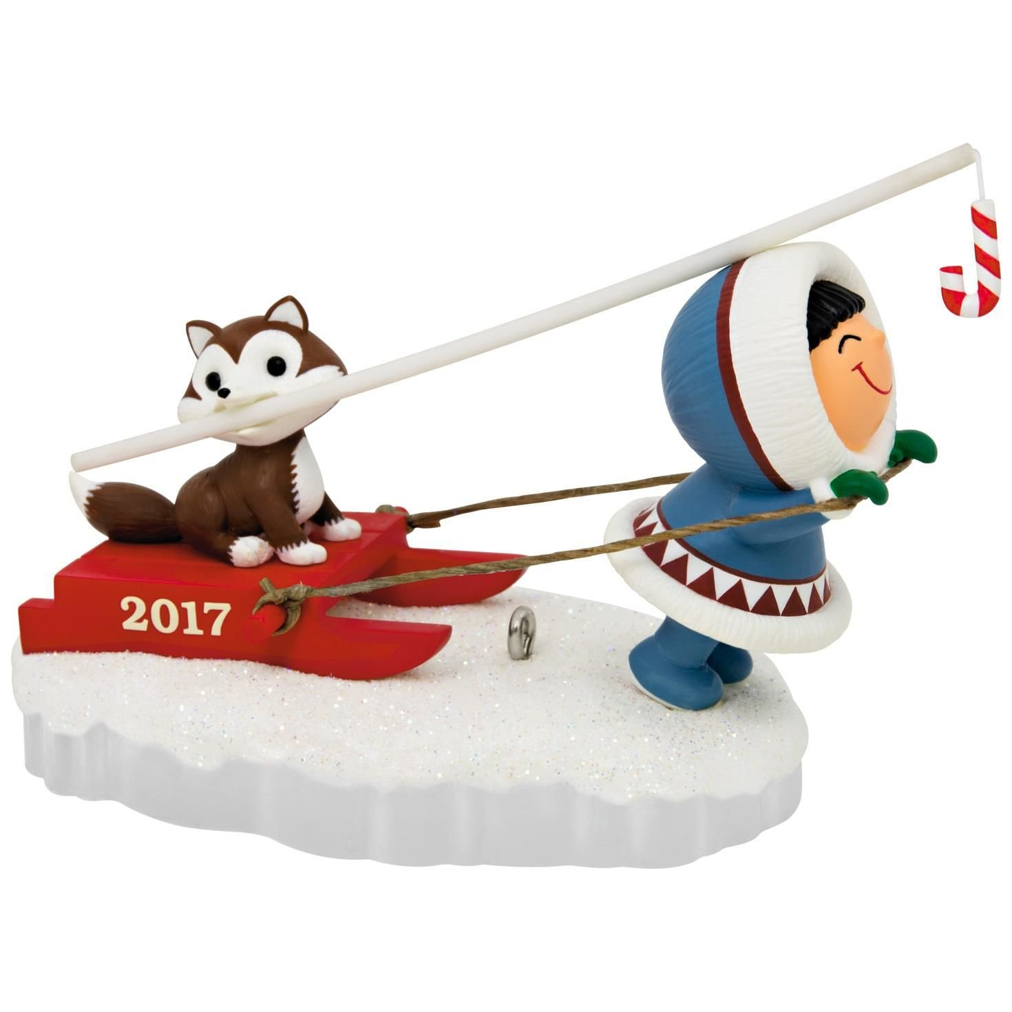 Hallmark Keepsake 2017 Frosty Friends Dog Sled Christmas Ornament