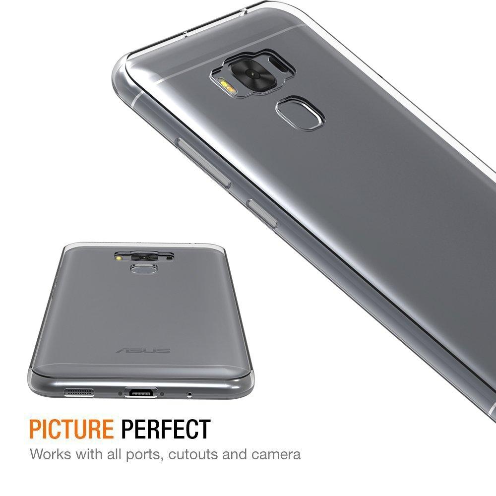 iVoler Funda Carcasa Gel Transparente para ASUS Zenfone 3 MAX ZC553KL 5.5 Pulgadas, Ultra Fina 0,33mm, Silicona TPU de Alta Resistencia y Flexibilidad