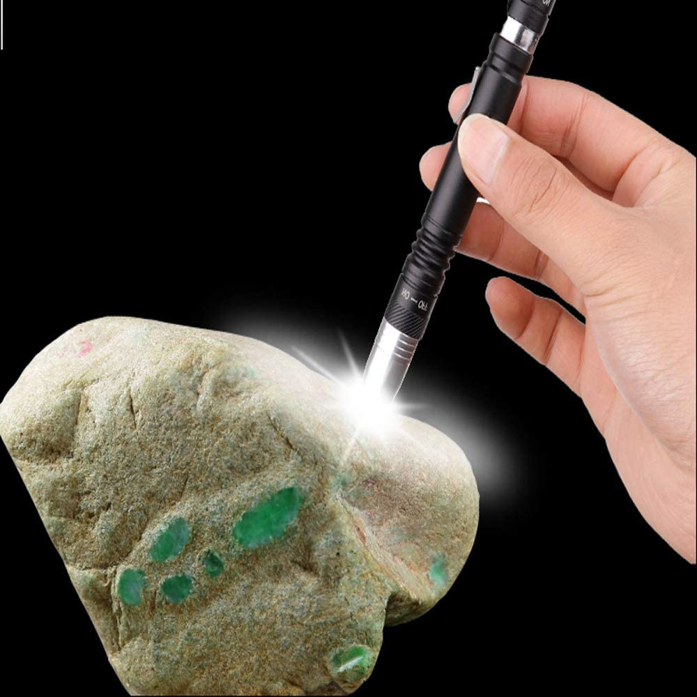 Linterna LED UV 2 en 1 ultravioleta linterna bol/ígrafo linterna linterna detector de luz negra para orina de mascotas insectos de cama 3 pilas AAA MODOAO manchas
