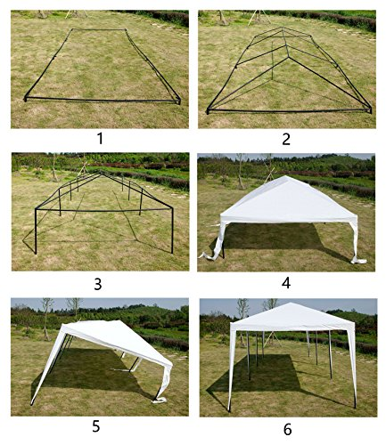 GOJOOASIS Improved Version Canopy Tent Wedding Party Tent with Metal Connectors Outdoor Gazebo White 10′ x 30′ with 8 Walls
