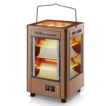 Radiador eléctrico MAHZONG Calentador Estufa a la Parrilla de Cuatro Lados Tipo de Barbacoa Calentador eléctrico del hogar -400W: Amazon.es: Hogar
