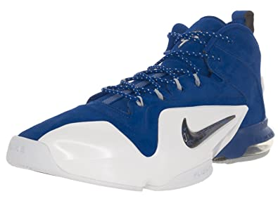 f96a870ce853 Nike Mens Zoom Penny VI Game Royal Black White Basketball Shoe 8 Men US