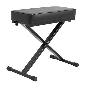2981b68f512e Tiger PST7-BK - Banqueta para teclado y piano (altura regulable), color  negro: Amazon.es: Instrumentos musicales