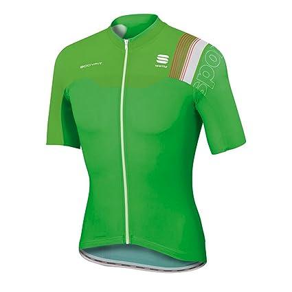 Sportful Men s Bodyfit Pro Race Short Sleeve Cycling Jersey - A1101726  (Green Green Fluo 342e7afb7