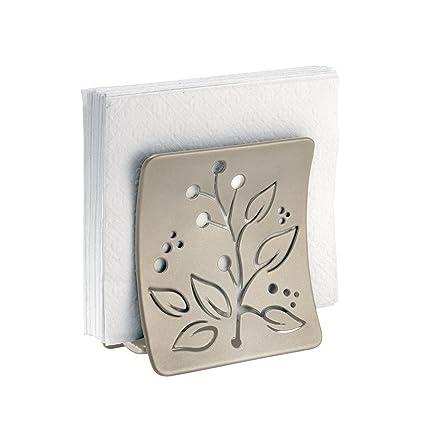 mDesign Elegante servilletero de mesa – Moderno soporte para servilletas para la mesa o la encimera