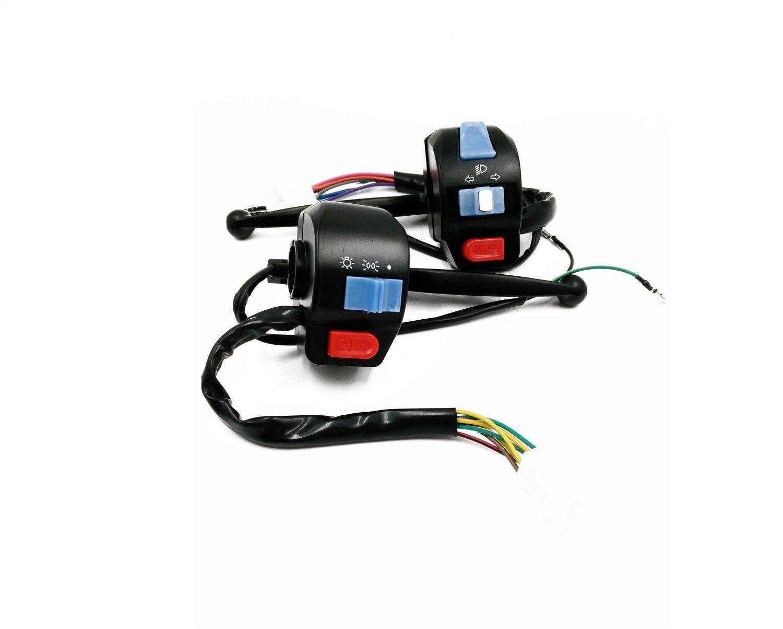 Colore : Drum brake handle seat Accessori Moto Interruttore indicatori di direzione moto 7//8 High Beam Motorino scooter Interruttori manubrio corno Indicatori di direzione Interruttore a pulsante