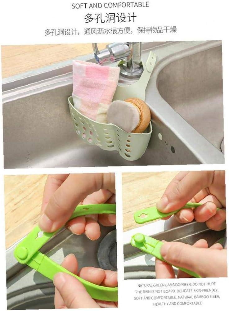 AMOYER 1pc Scatto Registrabile Sink Bagagli Carrello Cucina Mensola Rubinetto Spugna Scarico Rack Accessori Cucina Bagno Organizzatore Gadgets Verde