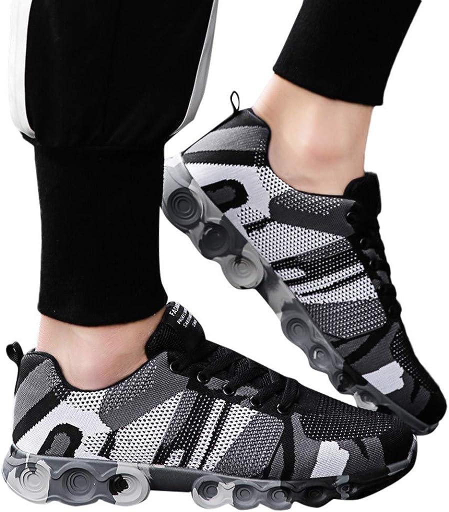 Btruely Hombre Zapatillas de Deporte Planas de Camuflaje Zapatos para Correr Running Malla Transpirable Casuales Zapatillas Deportivas Montaña Hombre: Amazon.es: Ropa y accesorios