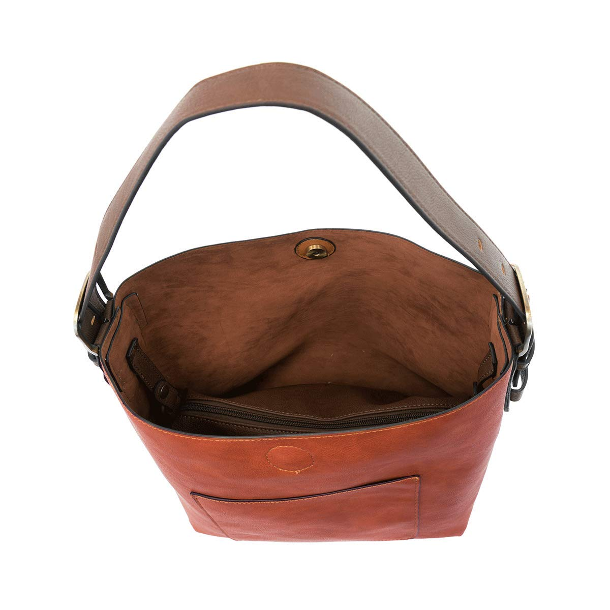 Joy Susan klassisk hobo handväska Russet