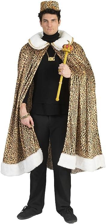 Funny Fashion Disfraz Jungle King Leopard Coat Rey Africano Cape ...