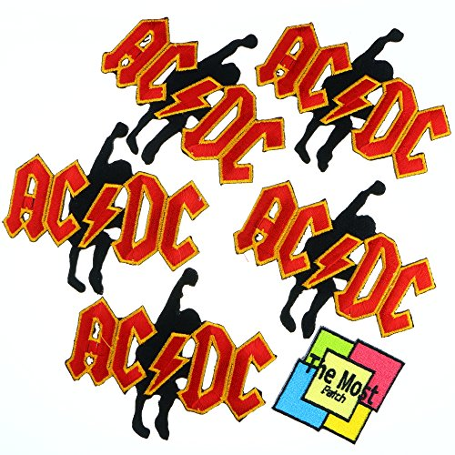 Lot of 6 (5+1) ACDC AC/DC Music Heavy Metal Rock Songs Embroidered Iron / Sew On Patch