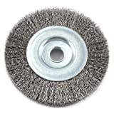 Forney 72744 Wire Wheel Brush, Fine Crimped with 1/2-Inch Arbor, 4-Inch by .008-Inch