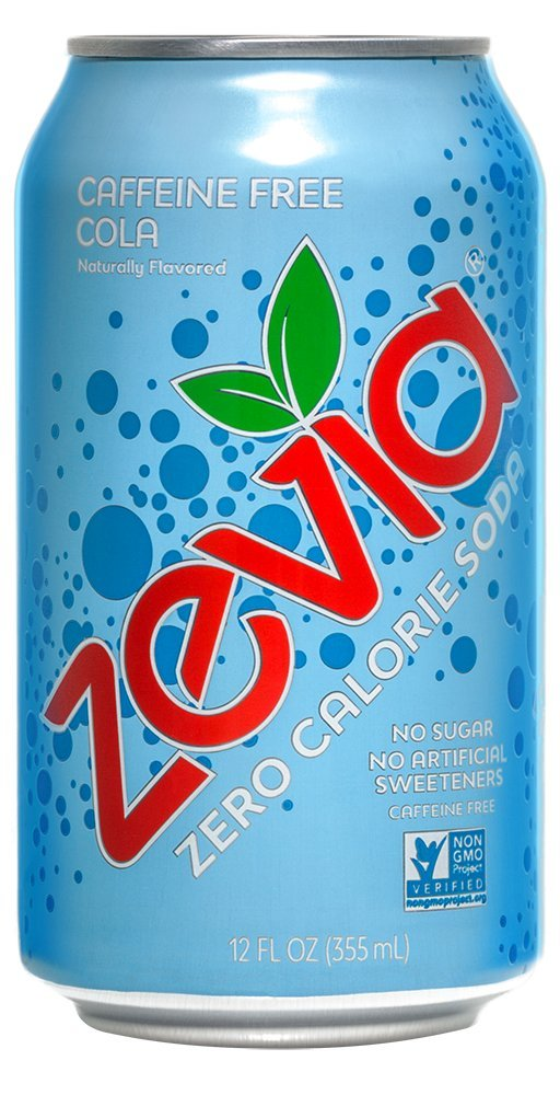 Zevia Zero Calorie Soda, Caffeine Free Cola, Naturally Sweetened Soda, (24) 12 Ounce Cans; Cola-flavored Carbonated Soda; Refreshing, Full of Flavor and Delicious Natural Sweetness with No Sugar