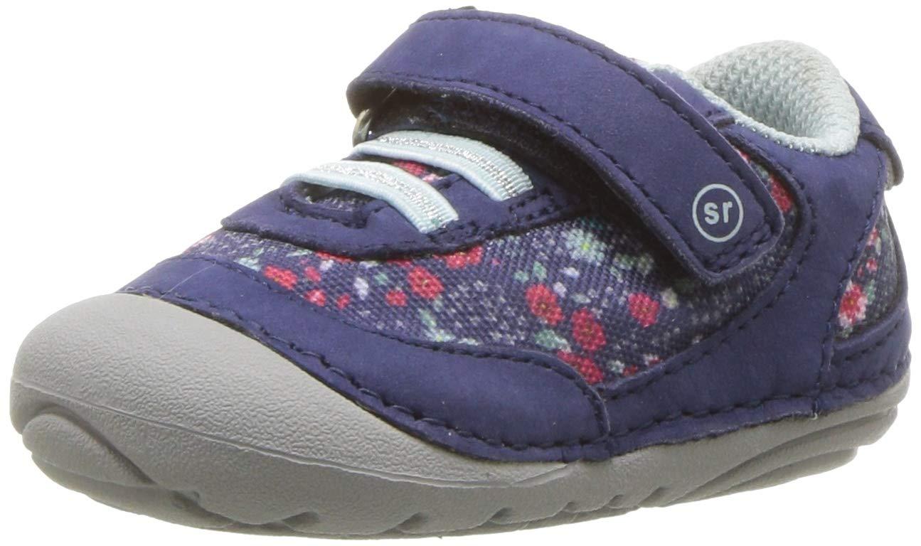 Stride Rite Jazzy Baby Girl's Athletic Mesh Sneaker, Navy/Multi, 5 M US Toddler by Stride Rite