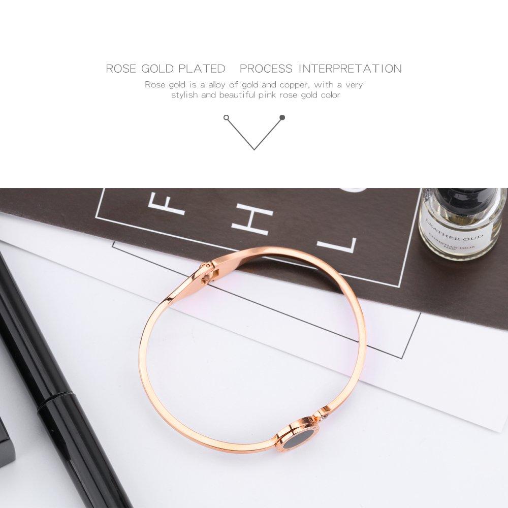 Keybella Bracelet Elegant Woman Girls Stainless Steel Roman Numerals Luckey Gift tassel tassel Pendant Necklace,Bag Chain