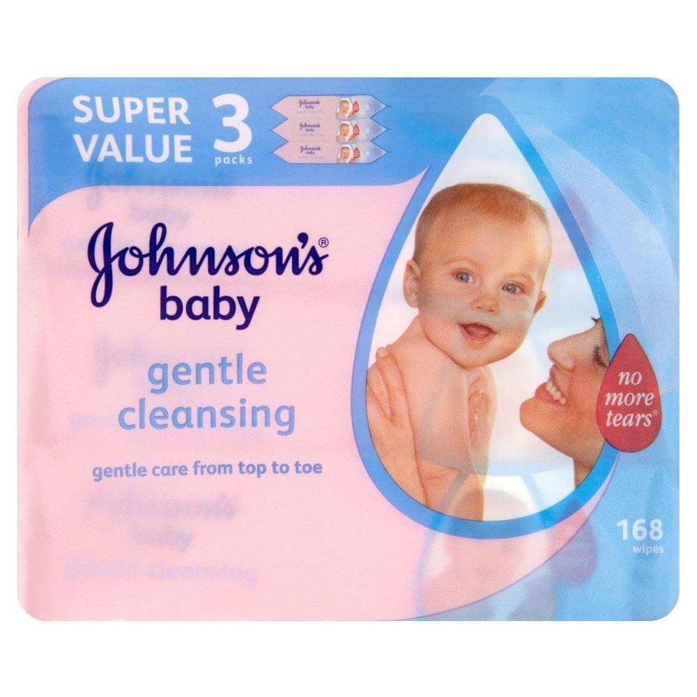 Johnsons Baby Sanfte Reinigungstü cher (56 X 3 Pro Packung) Groceries