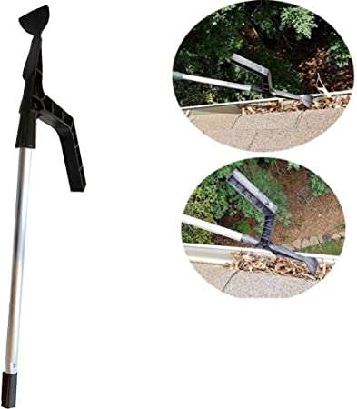 Gutter Cleaner Tool Gutter Leaf Cleaner Roof Cleaning Hook For Window Cleaning Duster House Garden Not Included Rod Amazon Co Uk Kitchen Home