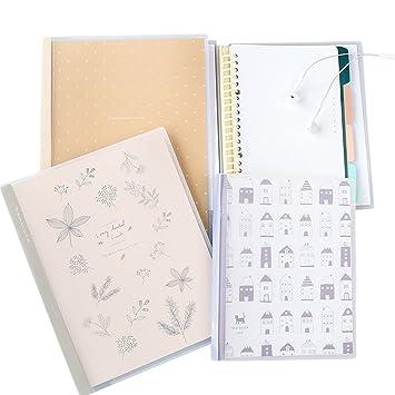 Ya Jin B5 Loose Leaf PP, cuaderno de espiral con páginas de índice ...