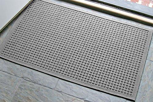 (WaterHog Fashion Commercial-Grade Entrance Mat, Indoor/Outdoor Charcoal Floor Mat  3' Length x 2' Width,   Medium Grey     by M+A Matting - 280-157-3F2F)