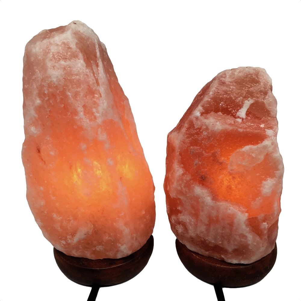 2x Himalaya Natural Handcraft Rough Raw Crystal Salt Lamp 7.75''-9''Tall, X0101, Exact Item will be Delivered
