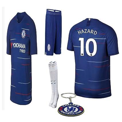 b7f75a0a3 Amazon.com   Chelsea 2018 19 Replica Eden Hazard Kid Soccer Jersey kit  chelsea Chelsea 2019 20 home ...