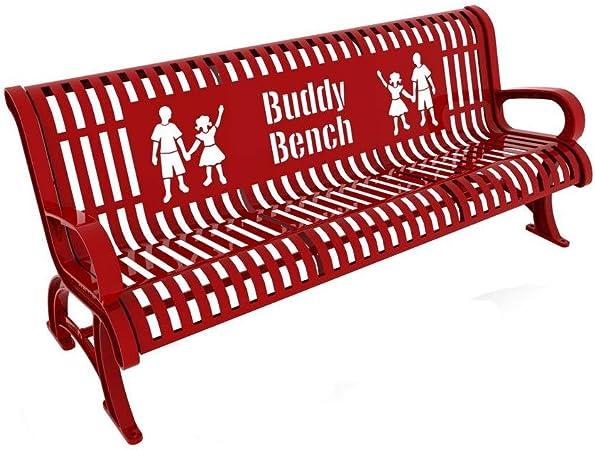 Amazon.com: Paris Premium Buddy – Banco 6 ft. Longitud, Rojo ...