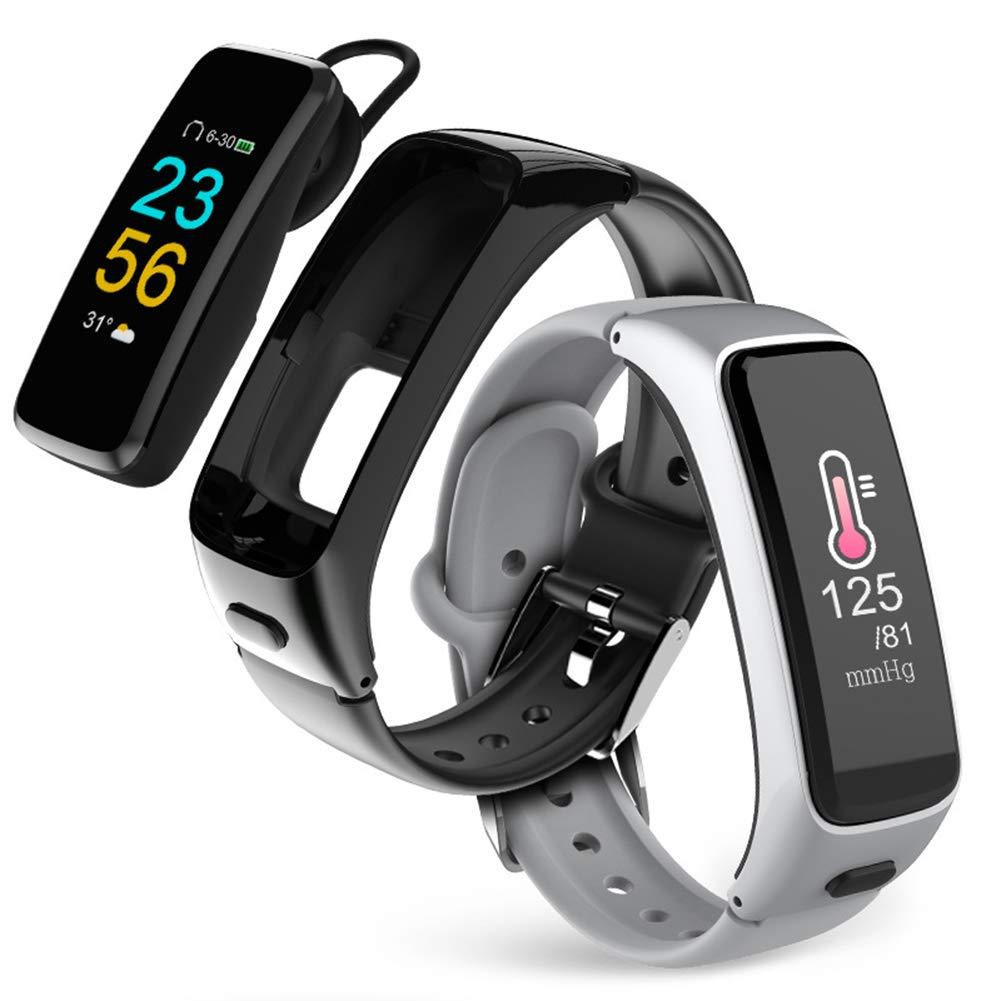 Noir GXLO bleutooth Smartwatch, traqueur de Fitness imperméable avec Moniteur de Sommeil, Montre de Compteur de Calories pour Enfants Femmes Hommes
