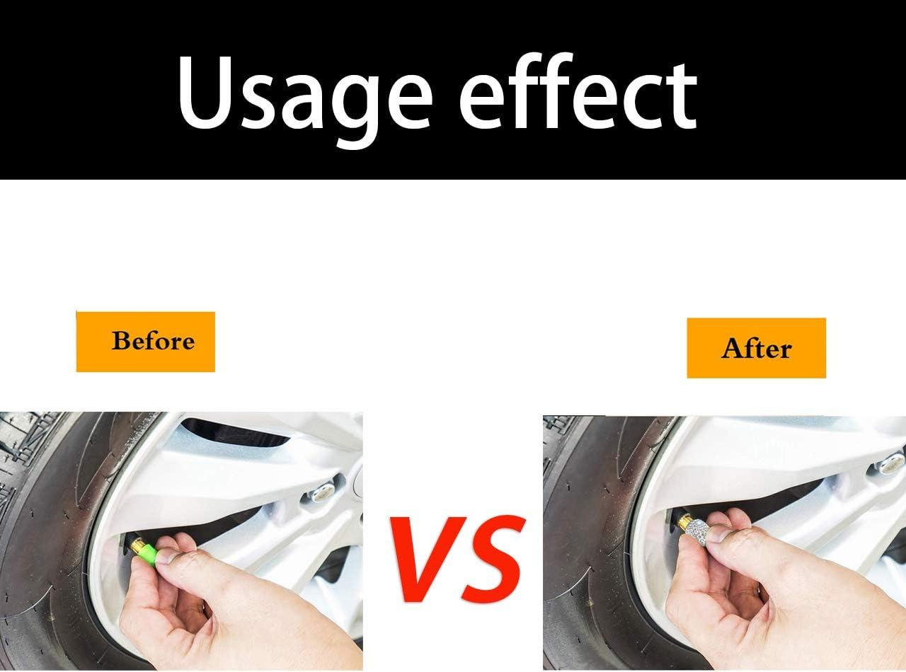 DEDC 4PCS Universal Tire Valve Dust Caps Bling Car Accessories Valve Stem Caps New