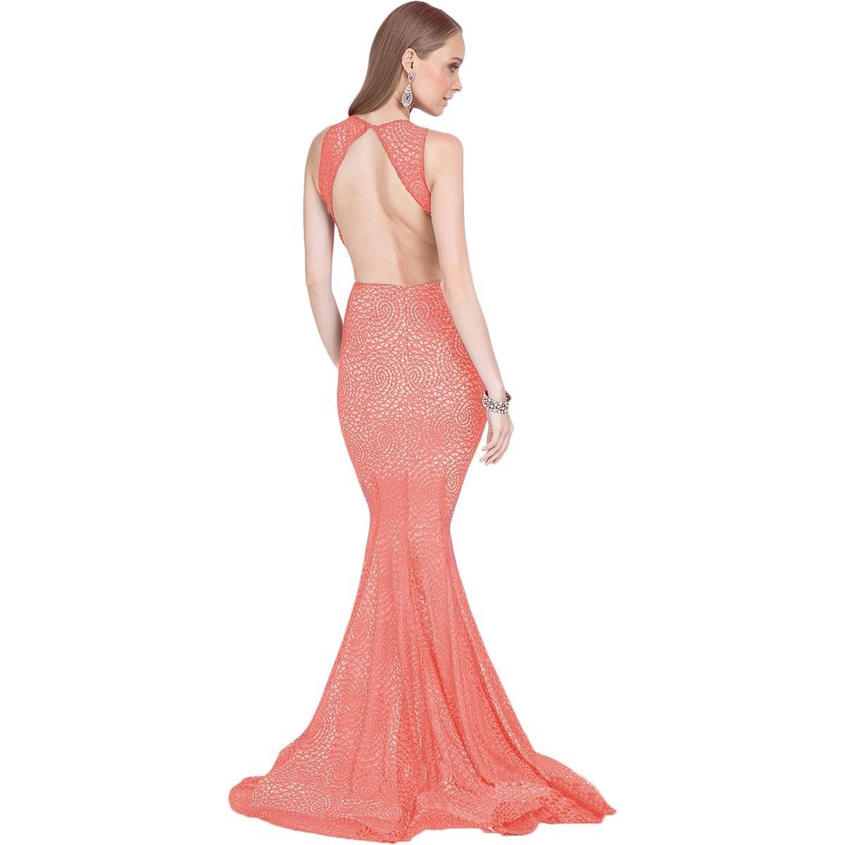 Terani Couture Lace Rhinestone Formal Dress