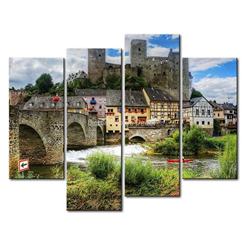 YEHO Art Gallery Painting Runkel Arch Bridge With Bushes for sale  Delivered anywhere in USA