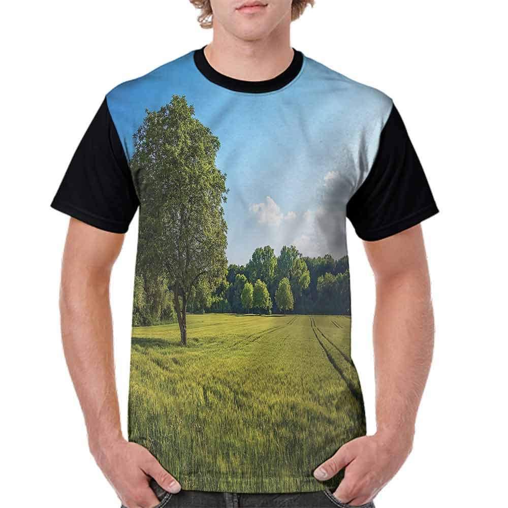 Vintage T-Shirt,Uplifting Nature Photo Fashion Personality Customization