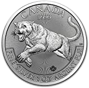 2016 CA Canadian 1 oz .9999 Silver Cougar - Predator Series Dollar Uncirculated