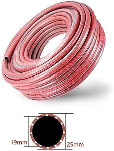 Manguera De Riego para El Hogar TuberíA De PVC JardíN TuberíA De PláStico IrrigacióN Tubo Goma,para La Industrial Parque Limpieza AutomóViles, Rojo, 5m-50m(16.4ft-164 Pies),19mm(3/4 Pulgada): Amazon.es: Hogar