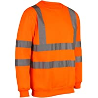 Sudadera de seguridad MyShoeStore®, de alta visibilidad, ropa de trabajo, talla S a 5XL