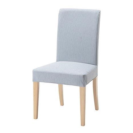 IKEA Henriksdal 303.347.85 - Funda para silla, diseño de rayas, color azul