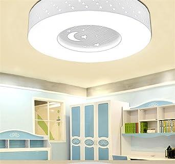 BRIGHTLLT Habitación niños LED lámpara de techo de estrellas calientes para niños y niñas Luna dormitorio