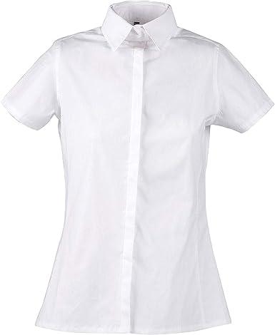 Dublin - Camisa Infantil para competición hípica Modelo Twyford para niñas niños (81cm) (Blanco): Amazon.es: Ropa y accesorios
