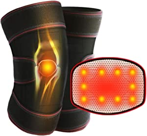 ZWPY Adjustable Self-Heating Knee Pads, Magnetic Therapy Knee Pad, with Self-Heat Magnets, for Pain Relief, Relieving Fatigue