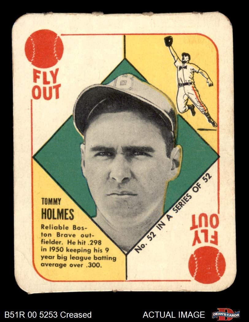 "1951 Topps # 52 HAR Tommy Holmes Boston Braves (Baseball Card) (Bio Begins""Now Managing Hartford"") Dean's Cards 2 - GOOD Braves 61weDB7jQfL"