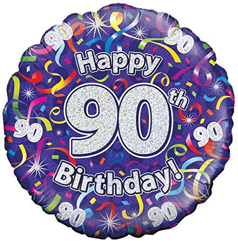 violett Geburtstag Luftschlangen Folienballon Suki Gifts S9227499 100