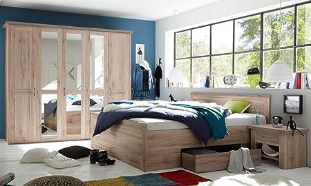 Trend Moebel Komplett Schlafzimmer Doppelbett Bett Nakos