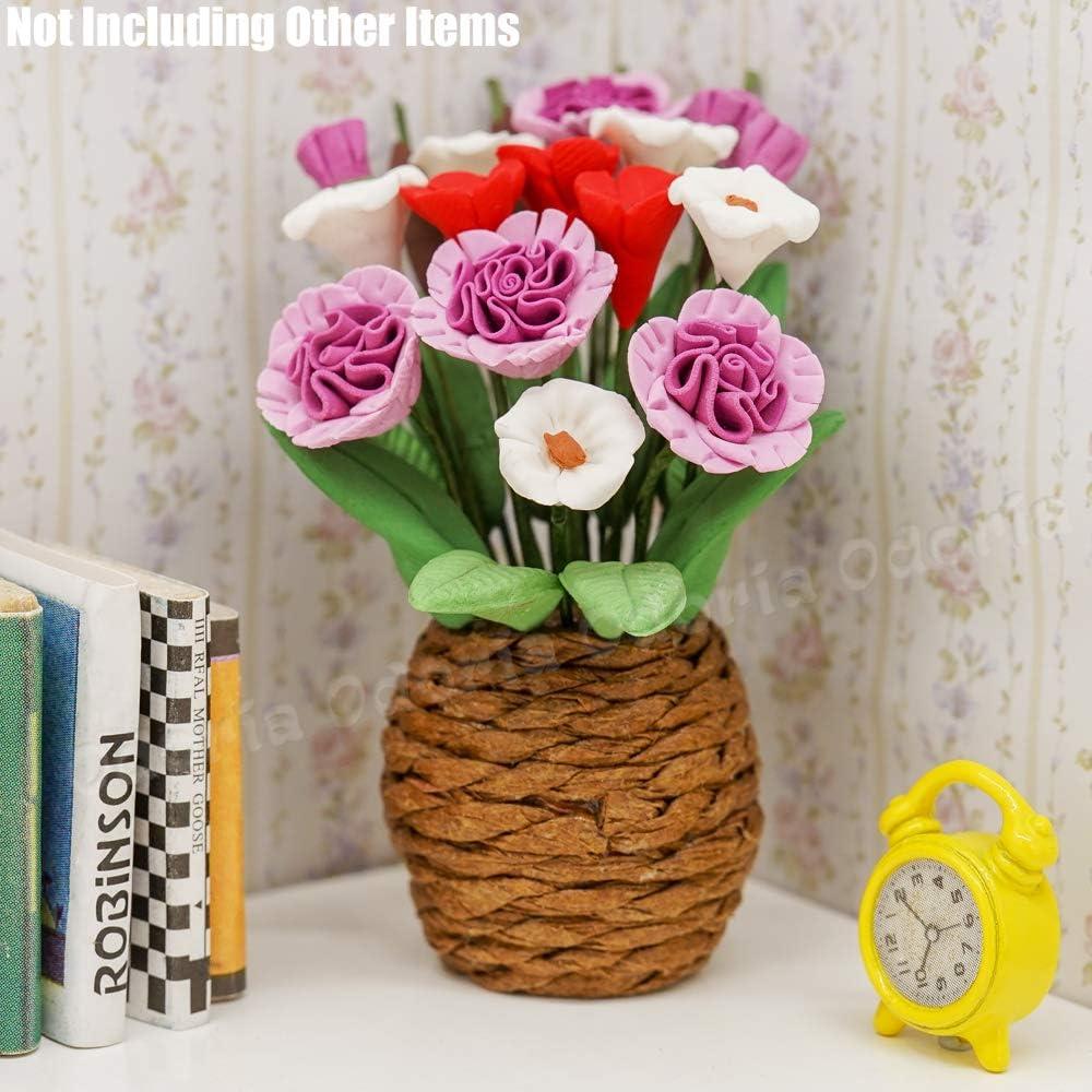 Odoria 1//12 Miniatur K/ünstliche Blumentopfpflanze Puppenhaus Zubeh/ör F/ür Fee Garten
