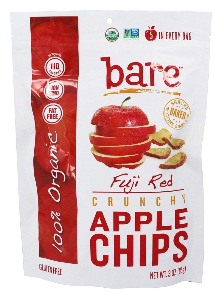 Bare Fruit - 100% Organic Bake-Dried Fuji Apple Chips - 3 oz (pack of 2)