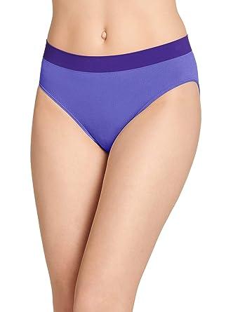 56d4dc6d59e3 Jockey Women's Underwear Modern Micro Seamfree Hi Cut, Crystalline Purple,  ...