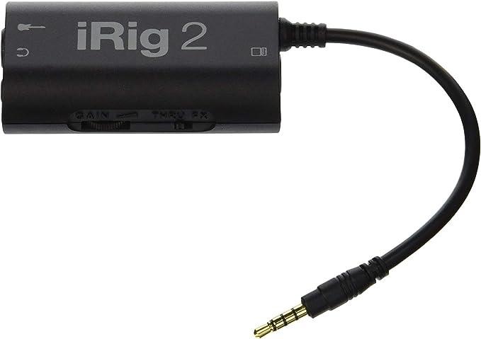 53/5000 IK Multimedia iRig 2 Mobile Guitar Interface- Negro
