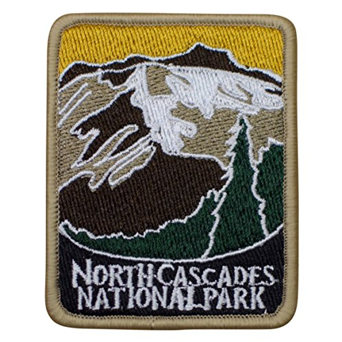North Cascades National Park Patch - Mountains, Trees, Washington (Iron - Park Stores North